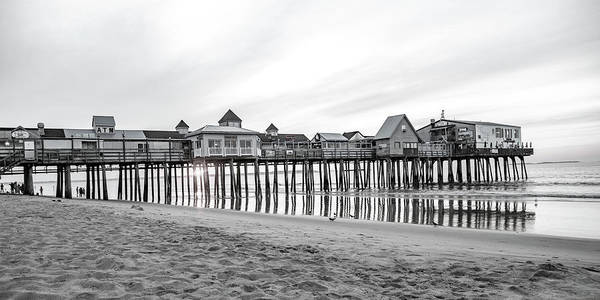 Wall Art - Photograph - Old Orchard Beach Pier Classic Sunrise by Betsy Knapp