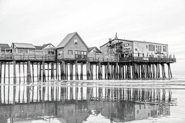 Wall Art - Photograph - Old Orchard Beach Pier Good Morning Classic by Betsy Knapp