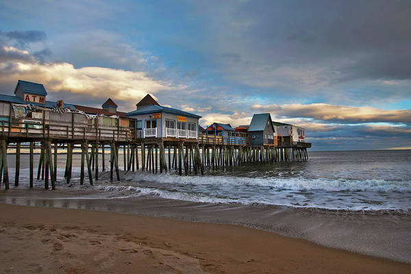 Photograph - Old Orchard Beach Pier Sunset by Joann Vitali