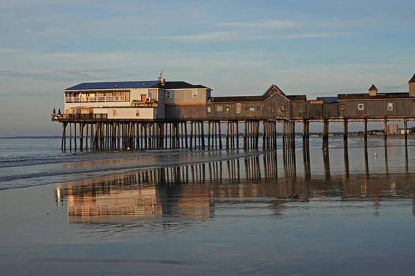 Wall Art - Photograph - Old Orchard Pier Reflection Maine by Toby McGuire