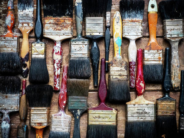 Richard Photograph - Old Paintbrushes 01 by Richard Nixon