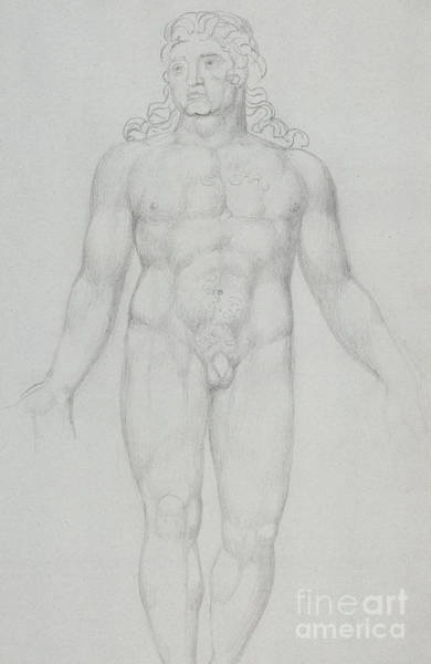 Male Model Drawing - Old Parr When Young, 1820 by William Blake