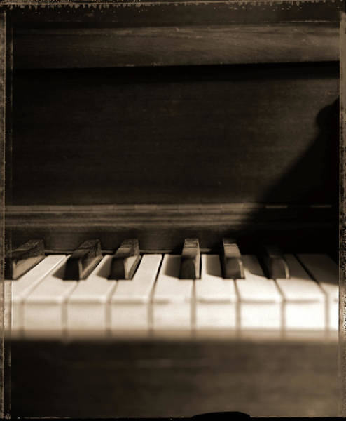 Piano Photograph - Old Piano - Polaroid 4x5 by T Scott Carlisle
