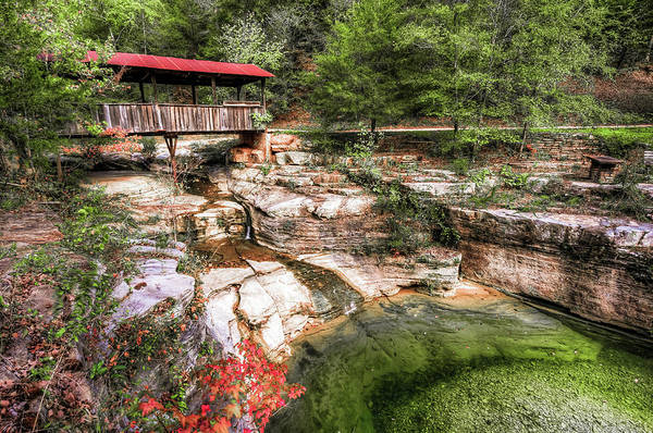 Photograph - Old Ponca Covered Bridge - Arkansas Ozark Mountains by Gregory Ballos