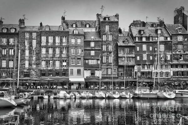 Wall Art - Photograph - Old Port Of Honfleur Black And White by Delphimages Photo Creations