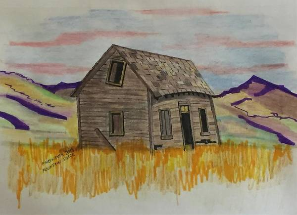 Wall Art - Drawing - Old Prairie House by Paul Meinerth