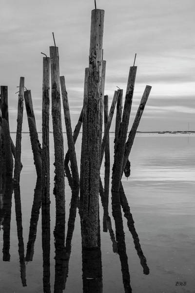 Provincetown Harbor Photograph - Old Provincetown Wharf IIi Bw by David Gordon