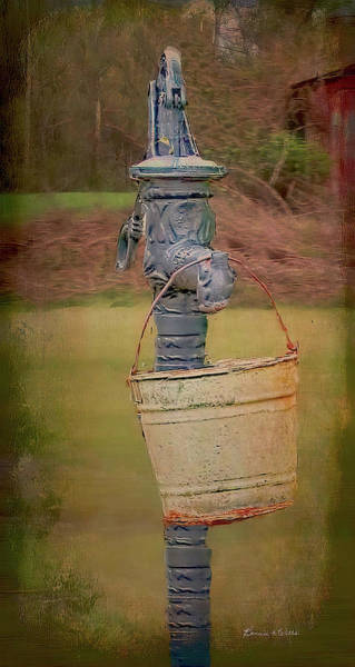 Digital Art - Old Pump And Water Bucket by Bonnie Willis