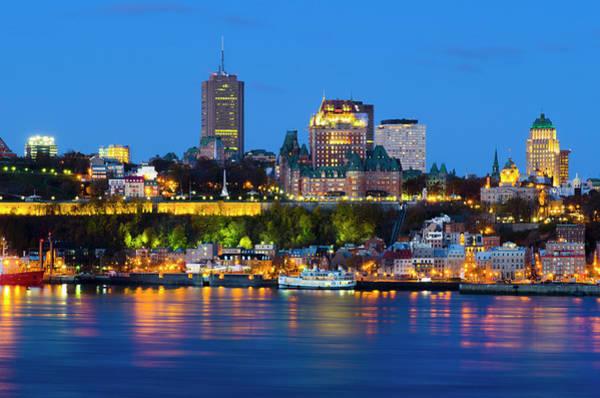 Quebec Photograph - Old Quebec Across Saint Lawrence River by Alan Copson
