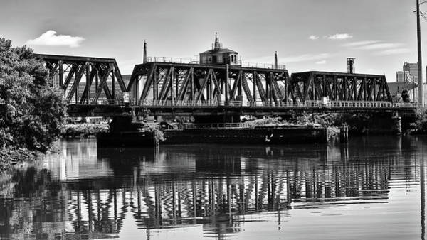 Photograph - Old Railroad Swing Bridge by Louis Dallara