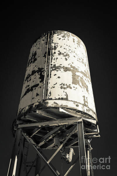 Wall Art - Photograph - Old Railroad Watertower by Edward Fielding