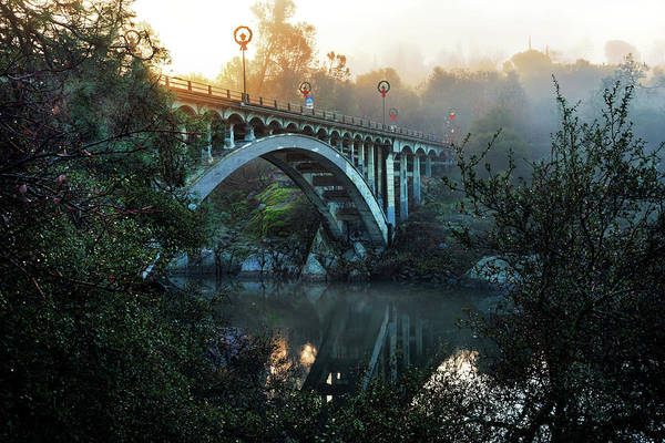 Photograph - Foggy Rainbow Bridge  by Janet Kopper