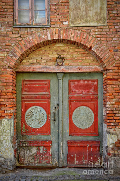 Wall Art - Photograph - Old Red And Green Doors by Antony McAulay