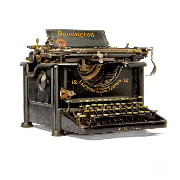 Photograph - Old Remington Typewriter by Edward Fielding