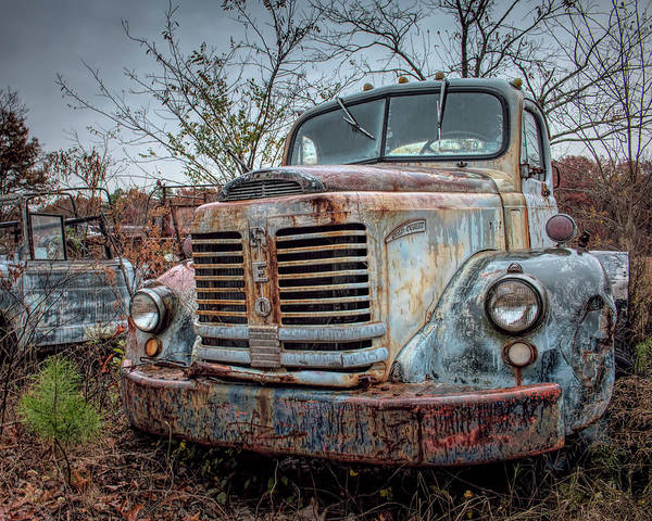 Photograph - Old Reo Gold Comet by Kristia Adams