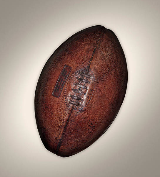 American Football Photograph - Old Rugby Ball by John Rensten