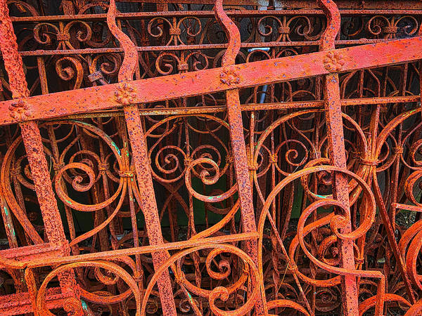 Wall Art - Photograph - Old Rusting Fences by Garry Gay