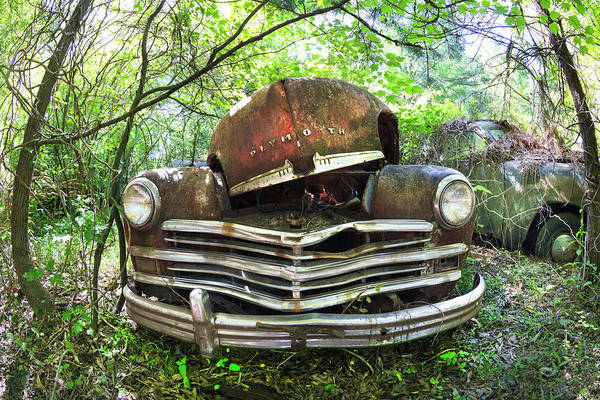 Photograph - Old Rusty 1949 Plymouth by Debra and Dave Vanderlaan