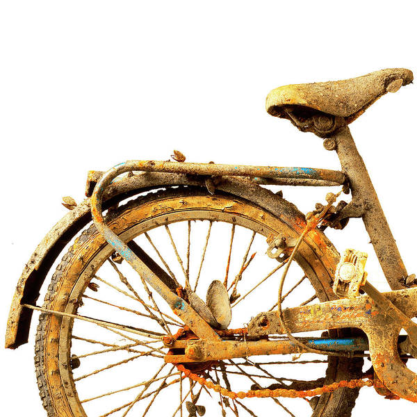 Bicycle Photograph - Old Rusty Bicycle by Johanna Parkin
