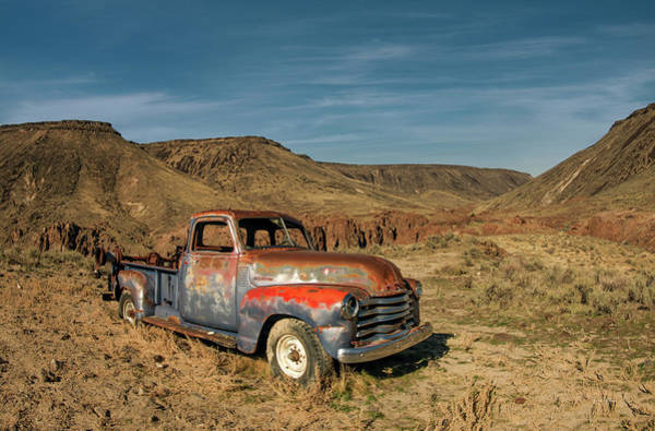 Photograph - Old Rusty Chevrolet Truck by Leland D Howard