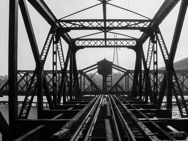 Photograph - Old Sakonnet River Railroad Bridge Bw by David Gordon