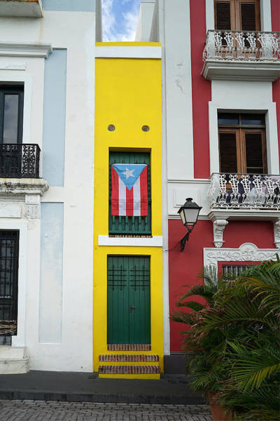 Photograph - Old San Juan - The Narrow House Patriot- Richard Reeve by Richard Reeve