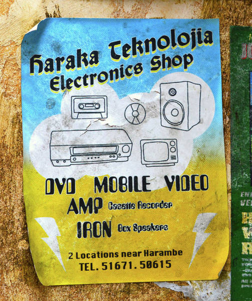 Wall Art - Photograph - Old Schhol Electronics Sign by David Lee Thompson