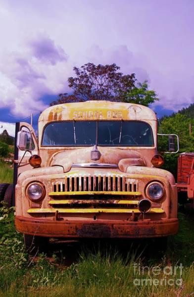 Wall Art - Photograph - Old School Bus In Portrait by Jeff Swan