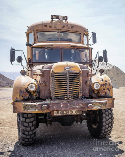 Wall Art - Photograph - Old School Monster School Bus by Edward Fielding