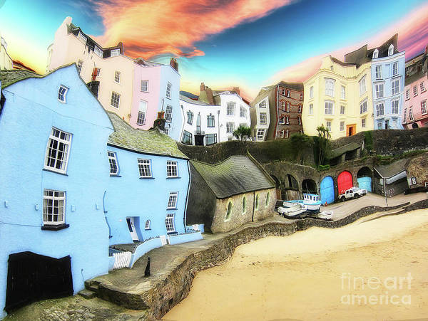 Painting - Old Sea Side Town  - Twisted by Sue Harper