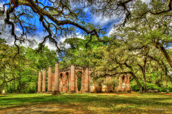 Wall Art - Photograph - Old Sheldon Church Ruins 2 Beaufort South Carolina Historic Art  by Reid Callaway
