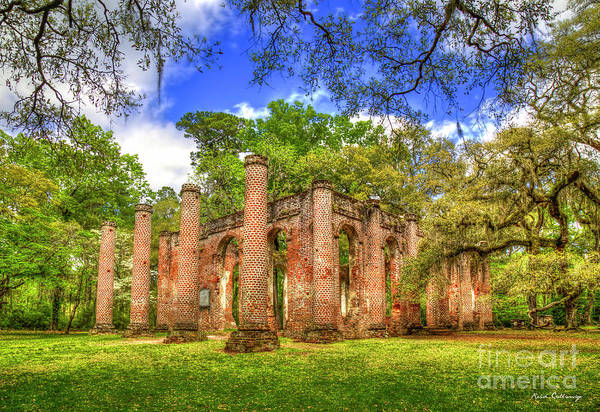 Wall Art - Photograph - Old Sheldon Church Ruins 3 Beaufort South Carolina Historic Art  by Reid Callaway