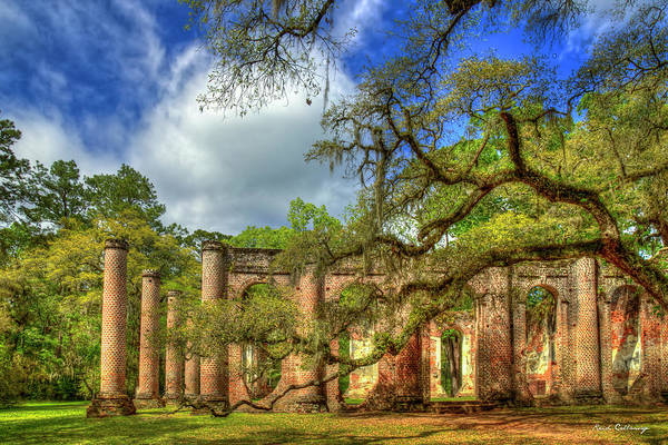 Wall Art - Photograph - Old Sheldon Church Ruins 4 Beaufort South Carolina Historic Art  by Reid Callaway