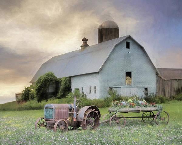Wall Art - Mixed Media - Old Shingled Barn by Lori Deiter