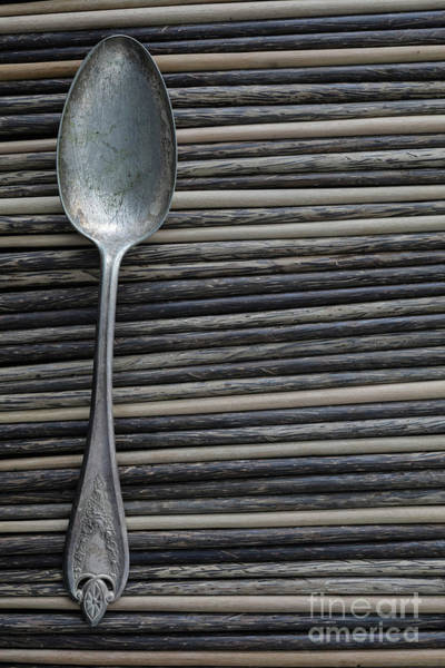 Photograph - Old Silver Spoon by Edward Fielding