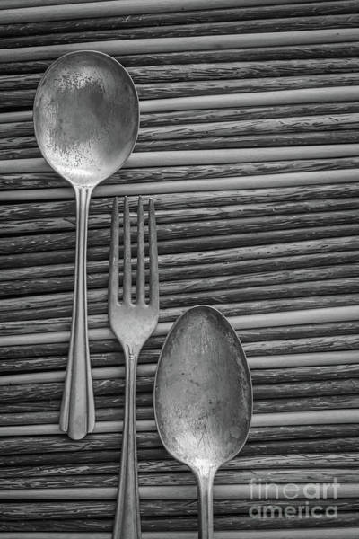 Photograph - Old Silverware 2 by Edward Fielding