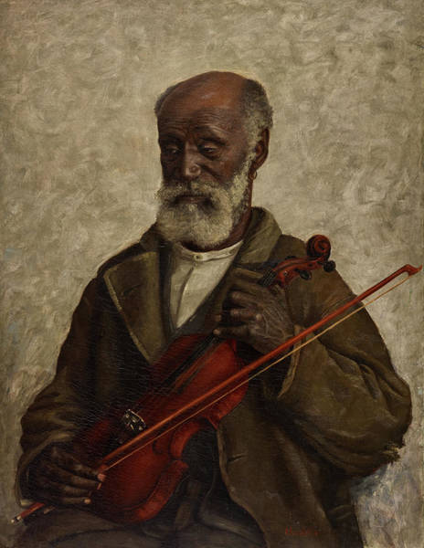 Note Book Painting - Old Slave by William Henry Huddle