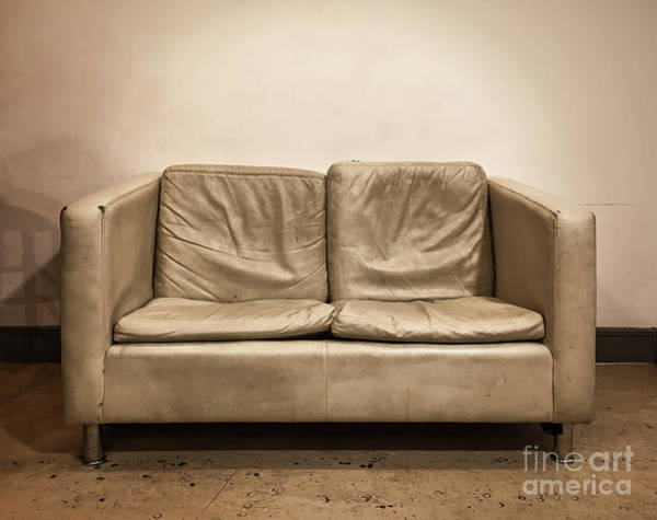 Wall Art - Photograph - Old Sofa In Sepia Tones by Tom Gowanlock