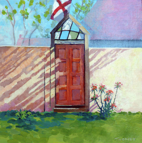 Painting - Old Stained Glass Door by Catherine Twomey