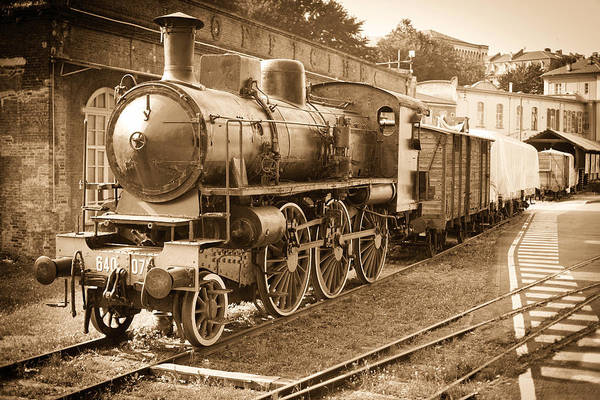Workshop Photograph - Old Steam Train In Officine by Ary6