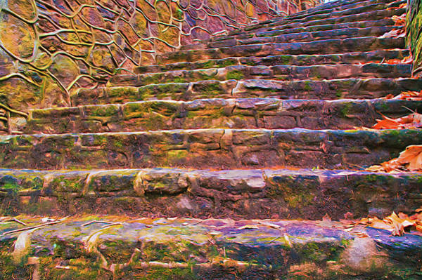 Photograph - Old Stone Steps From Below by Gary Slawsky