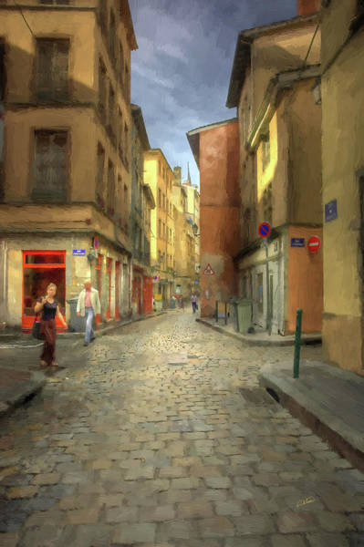 Painting - Old Street Lyon France by Dean Wittle