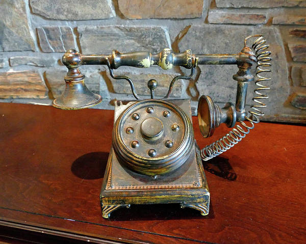 Wall Art - Photograph - Old Style Phone by Patricia Fleury