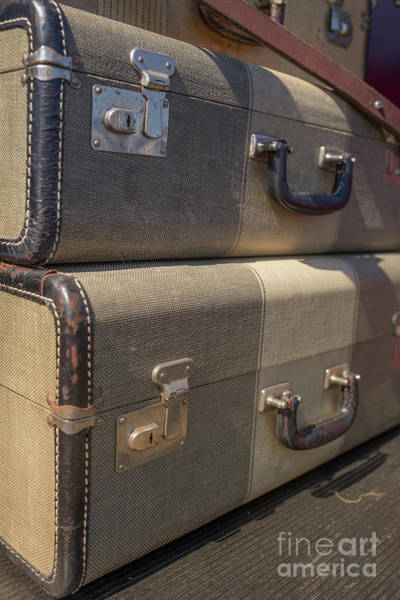 Photograph - Old Suitcases Stowe Vermont by Edward Fielding