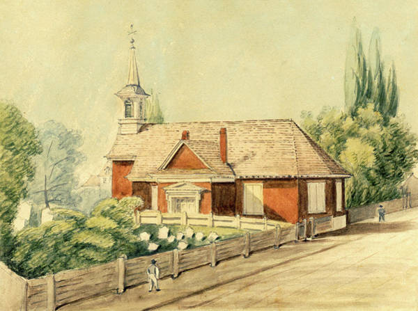 Drawing - Old Swedes' Church, Southwark, Philadelphia by William Breton