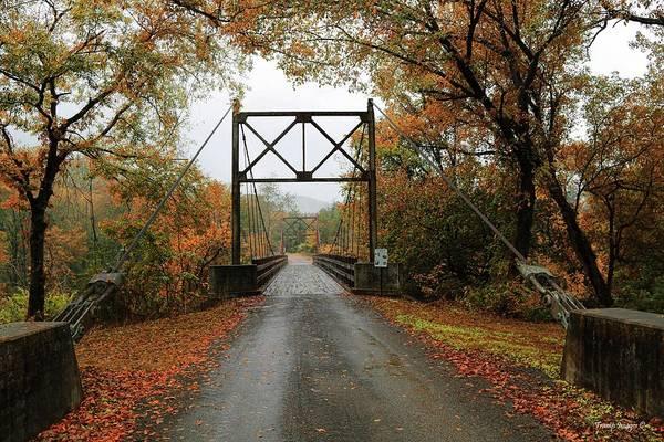 Photograph - Old Swinging Bridge by Wesley Nesbitt