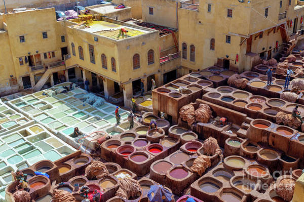 Wall Art - Photograph -  Old Tanneries Of Fez, Morocco by Louise Poggianti