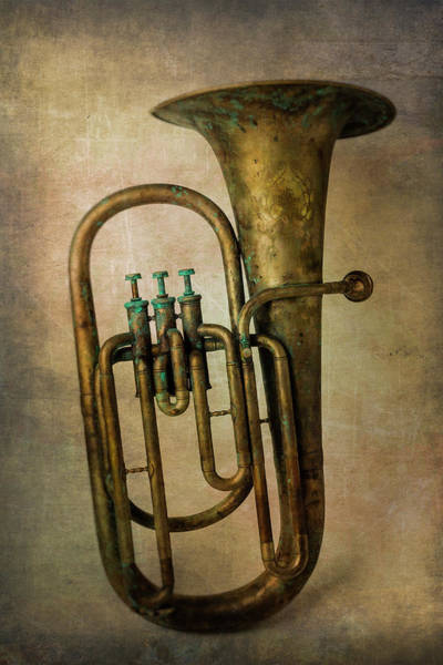 Wall Art - Photograph - Old Textured Tuba by Garry Gay