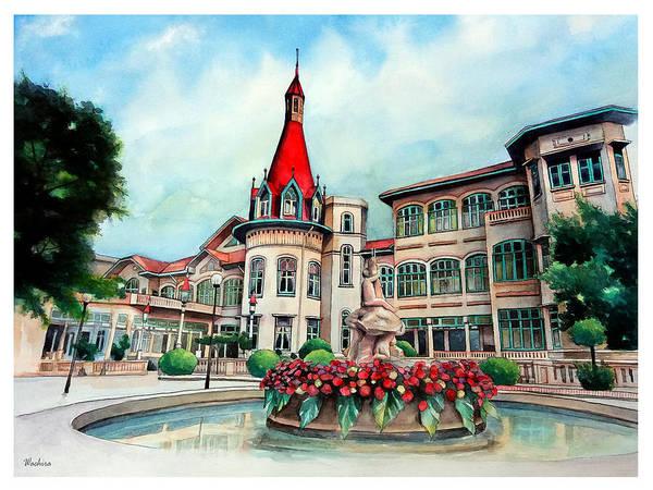 Thailand Wall Art - Painting - Old Thailand Palace, Architecture by Wachira Kacharat