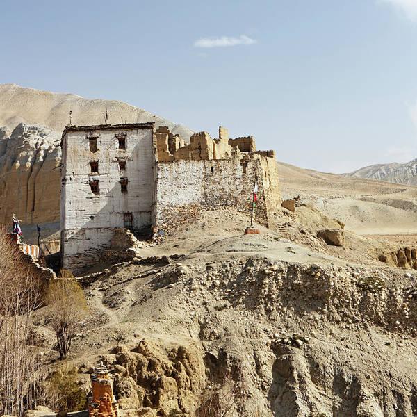 Wall Art - Photograph - Old Tibetan Monastry In Himalayan by Hadynyah